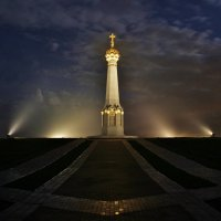 Бородино в туманную ночь :: Евгений (bugay) Суетинов