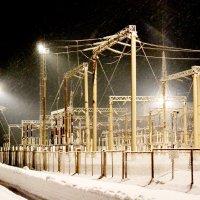 Крещенская ночь на электроподстанции :: николай матюшенков