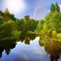Какие дивные места: Лесов могучих край, Река зовущая чиста - Прохладу :: Алла Кочергина