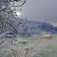 Зимний вечер на озере. :: Vladimir Lisunov