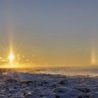 Восход солнца на Ладоге :: Валентина Харламова