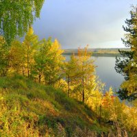 Золотая осень на Томи :: Зося Каминская