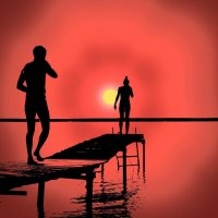 Провожая солнце... :: Рустам Илалов