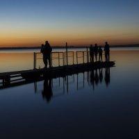 Закат на озере Кандры Куль :: Юрий Казарин