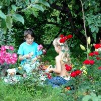 Летнии игры в саду... :: Генрих