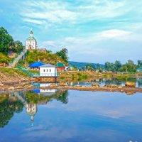 Необычная река Усолка. Здесь соседствуют монастырь и курорт. :: Elena Izotova