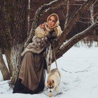Зимняя прогулка с другом :: Ирина Кулагина