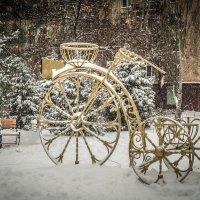 одинокий дедушка в снежную зиму :: Иван Синицарь