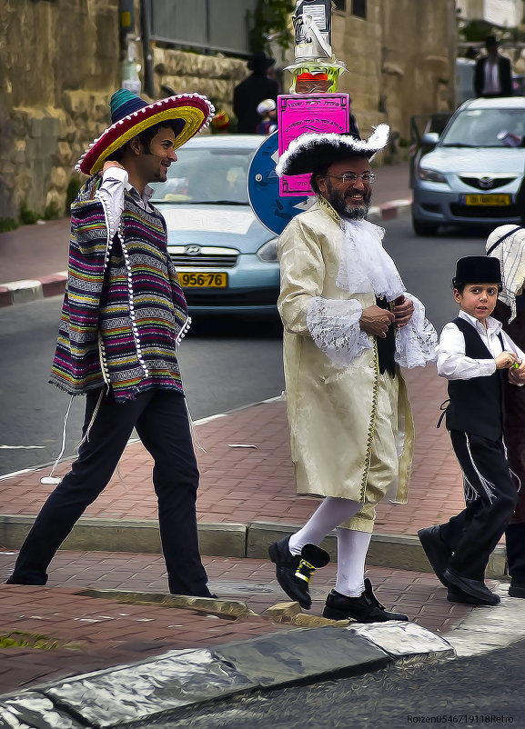 Пурим в Иерусалиме-2014«Израиль, всё о религии...» - Shmual Hava Retro