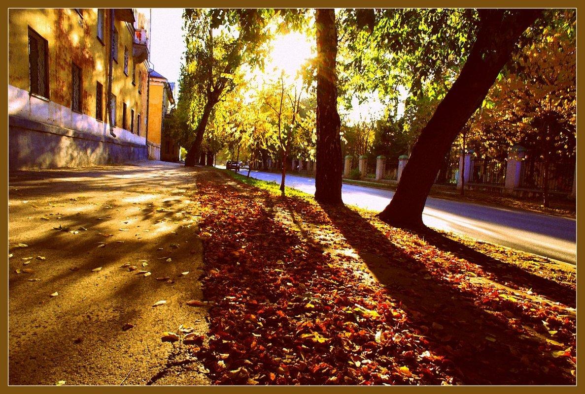 Я шагаю тихонько по улочкам старым и мой спутник усталый-осеннее солнце.. - Елена Прихожай