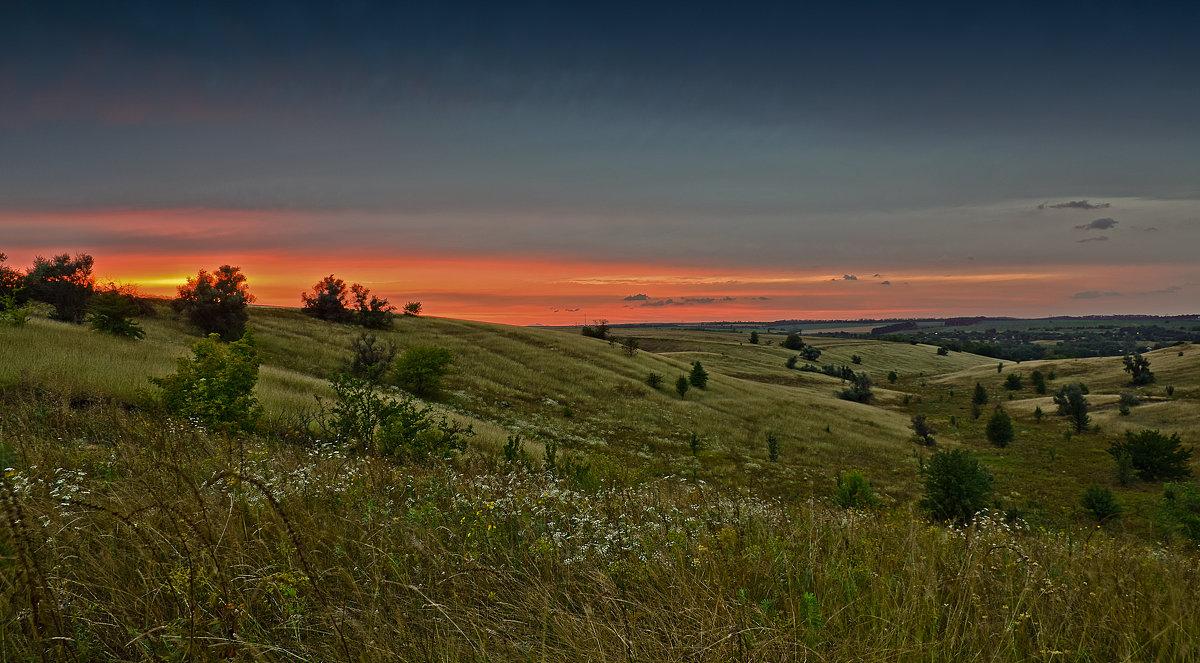 Закат в поле - Татьяна