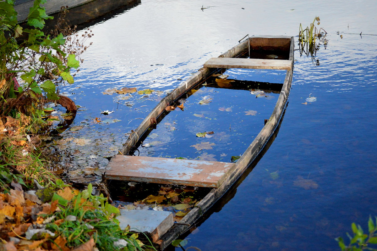 деревня лодка у воды