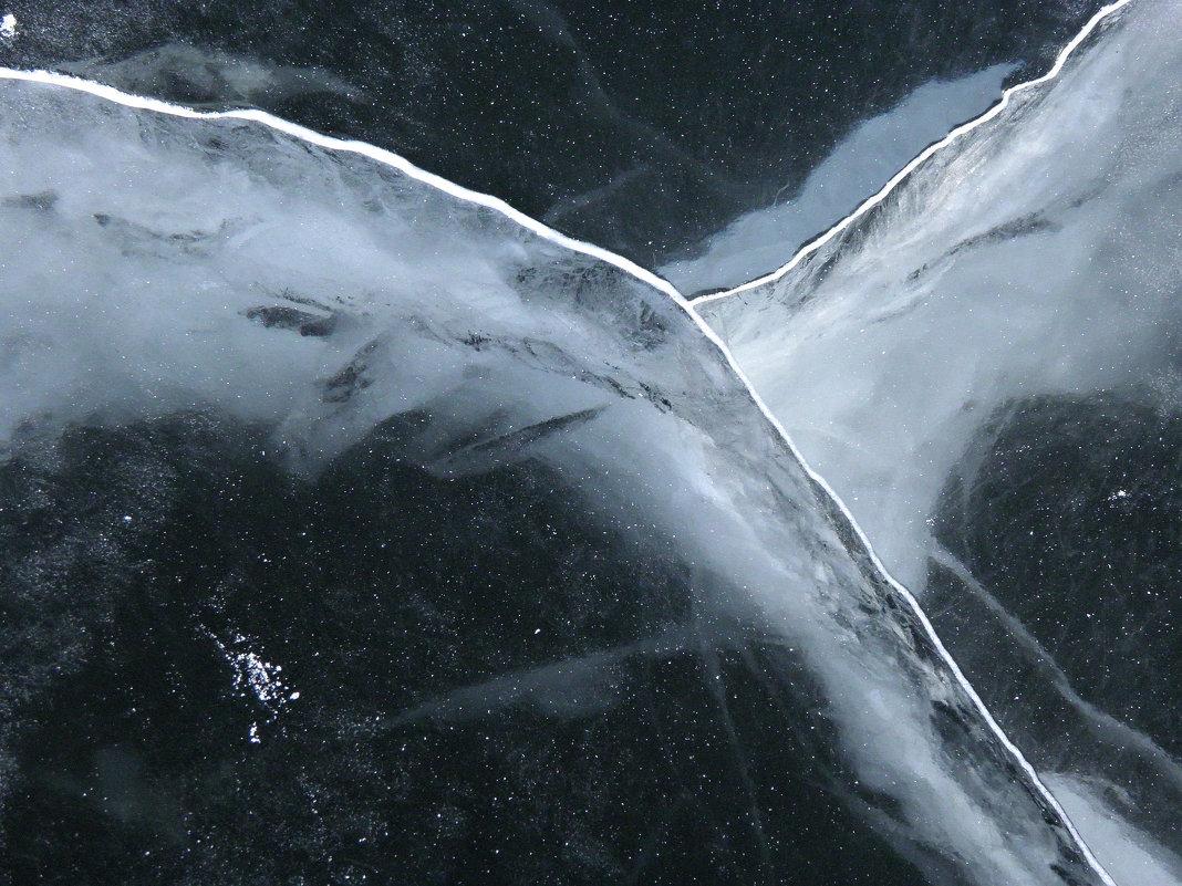 трещинки на льду. - Наталья Бридигина