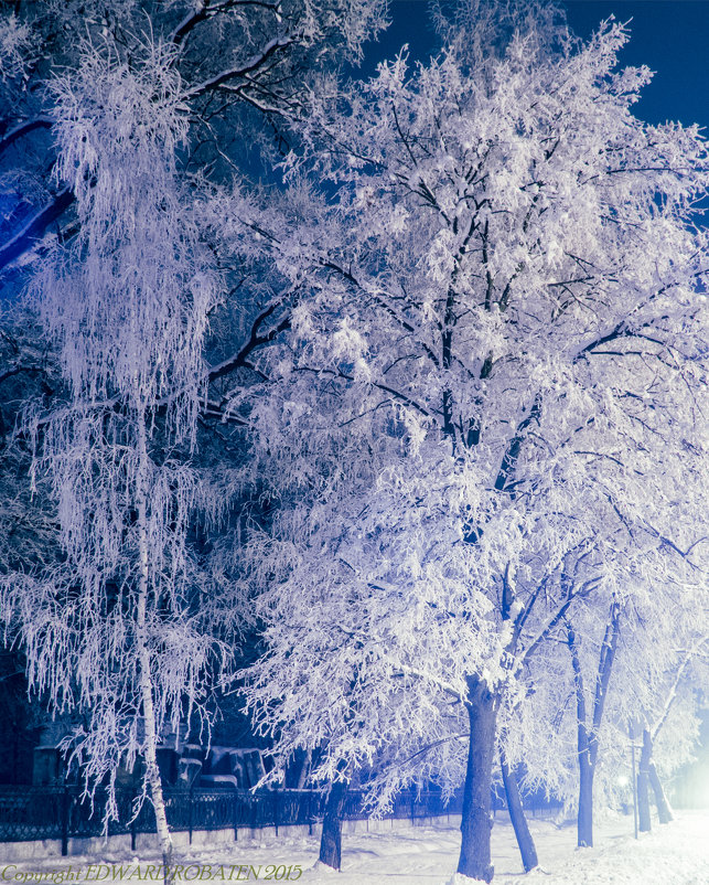 Зимний вечер... - Эдуард Робатень