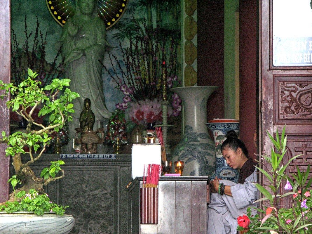 Вьетнам, вход в храм - Татьяна Нижаде