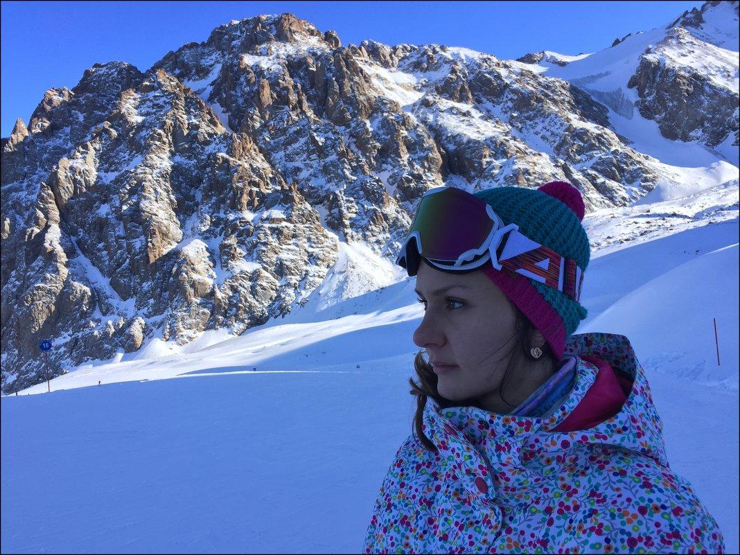Сноубордистка. - Anna Gornostayeva