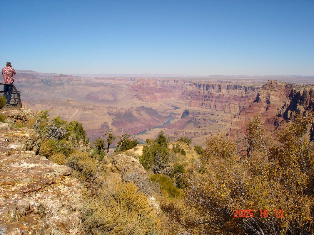 Вид сверху на реку Колорадо. - Владимир Смольников
