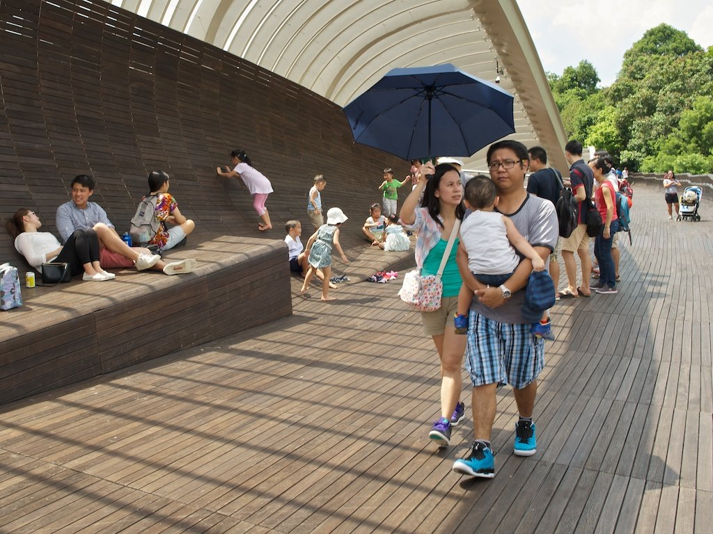 На мосту Henderson Waves, Singapore - Sofia Rakitskaia