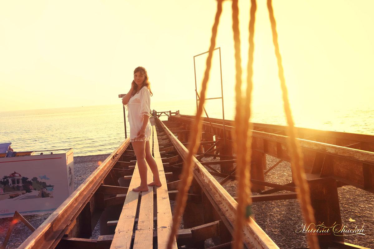 Фотосессия на закате. Кристина - Марина Щуцких