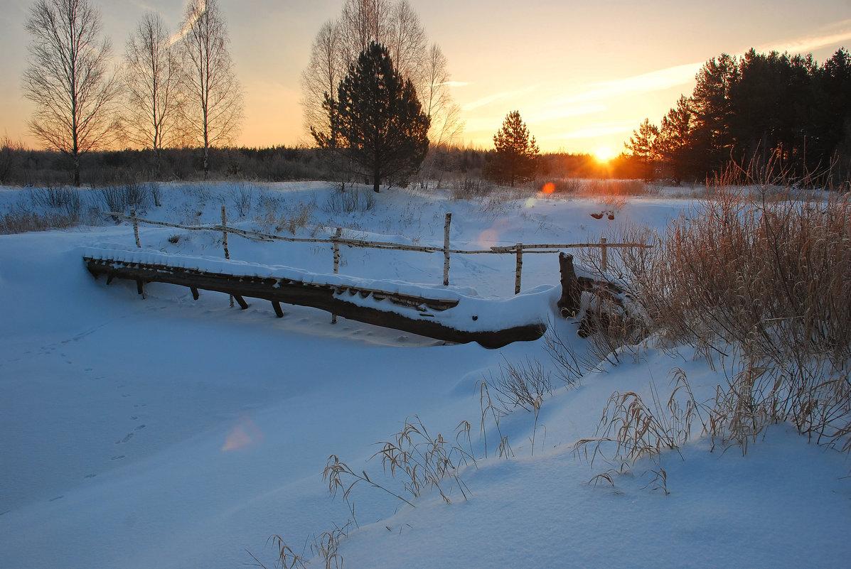 Речка Бужа зимой - Валерий Толмачев