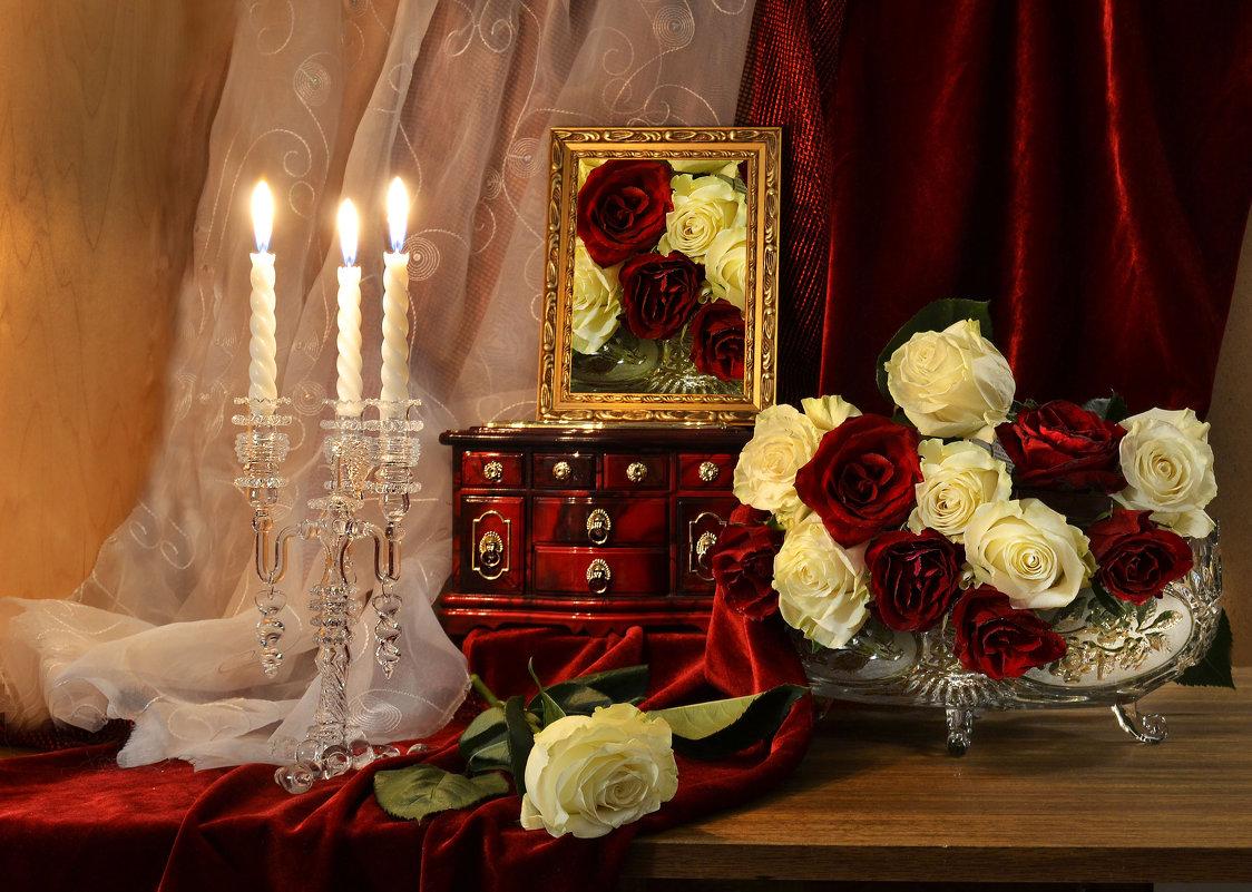 ... розы красные, цветы огня живого - Валентина Колова