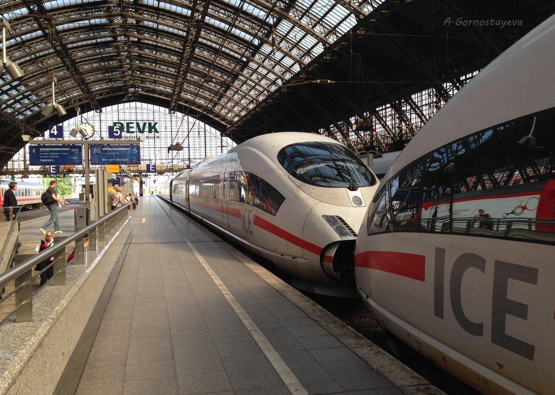 Главный железнодорожный вокзал Кёльна. - Anna Gornostayeva