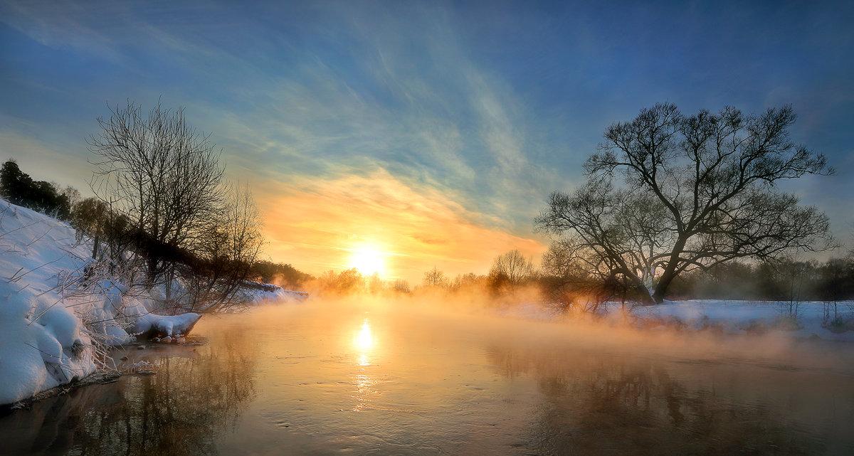 Морозный закат января...2. - Андрей Войцехов