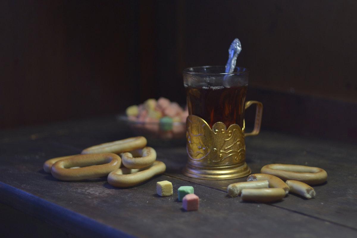 Чай с сушками и фруктовым сахаром. - Оксана Евкодимова