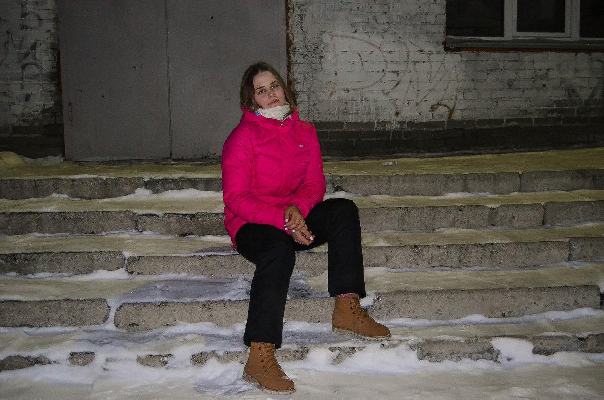 На лестнице. - Света Кондрашова