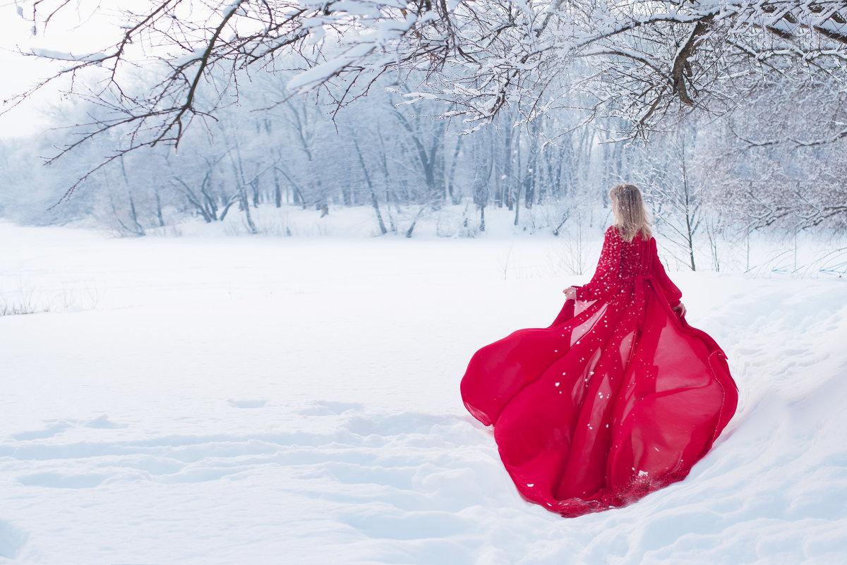 красное платье - Gannochka