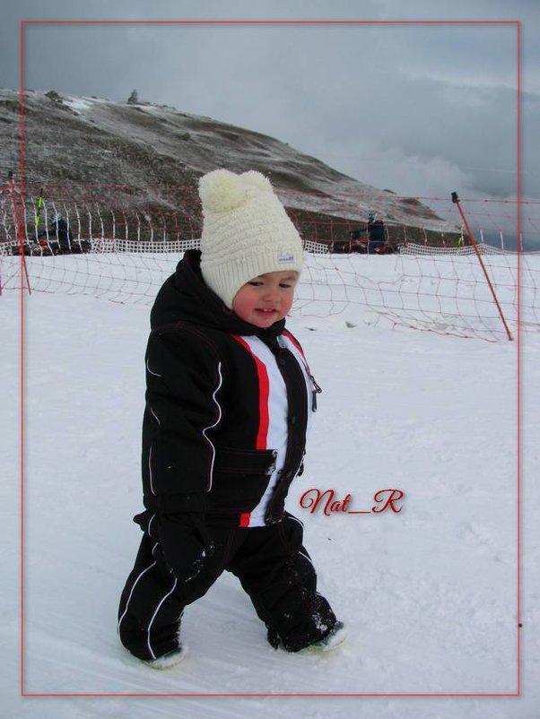 будущая лыжница. ну или саночница ... - maxim