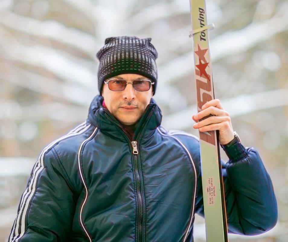 Портрет лыжника - игорь козельцев