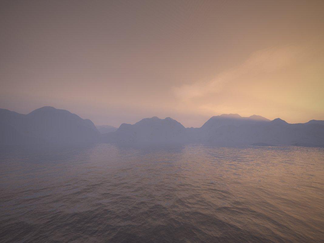 туманный пейзаж - linnud