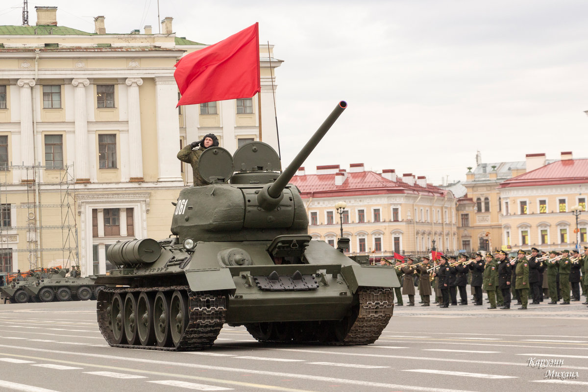 Танк Т-34 (репетиция парада-2016) - Михаил Сергеевич Карузин