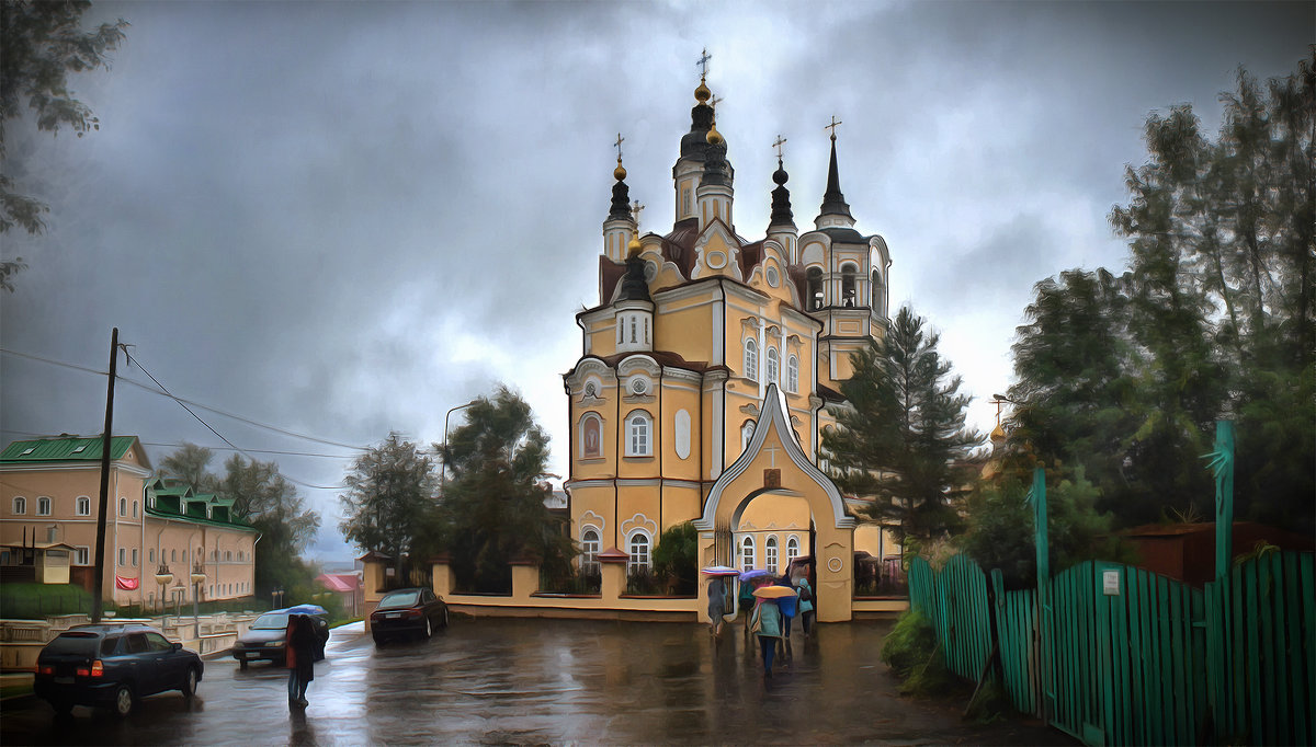 Воскресенская церковь. Томск, август - Edward Metlinov