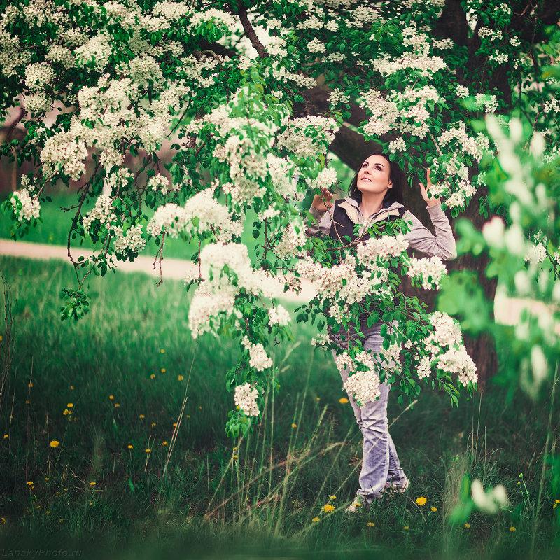 ♥ Весна... В цветах грушевого дерева, вечер. ♥ ☼ - Alex Lipchansky