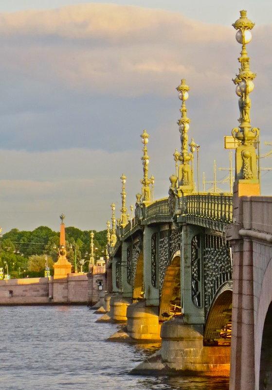 Троицкий мост на закате - Елена
