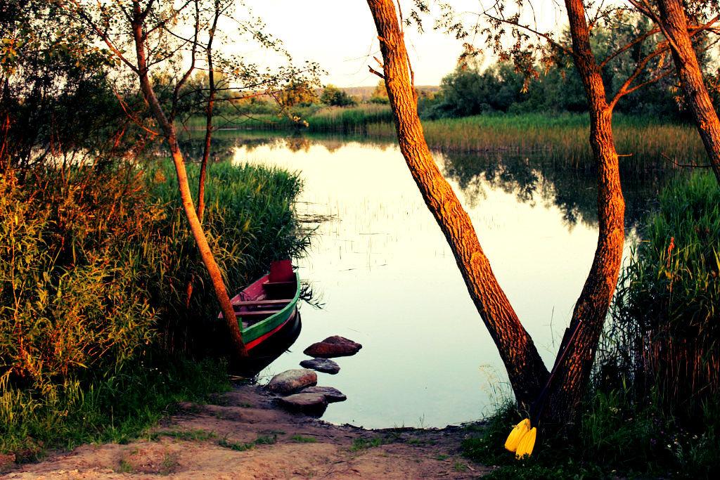 озеро на закате - Ольга