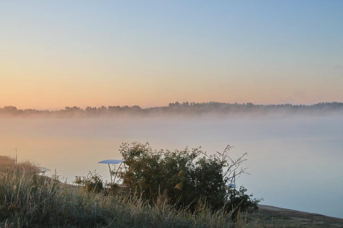 Туман над озером. - Олег Афанасьевич Сергеев