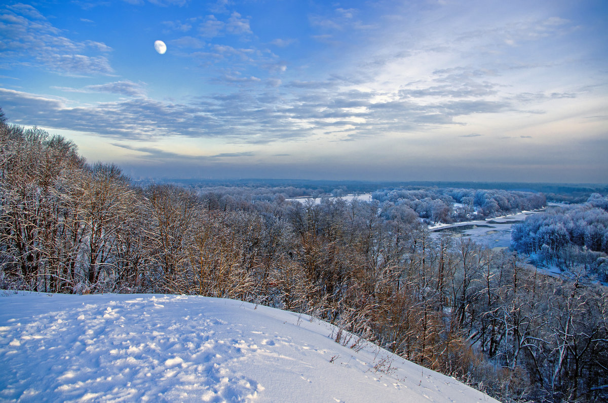 Десна, Луна, зима - Дубовцев Евгений