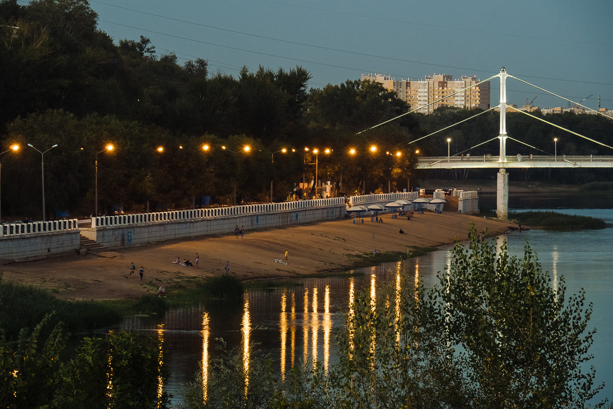 Центральный городской пляж Оренбурга. - Артемий Кошелев