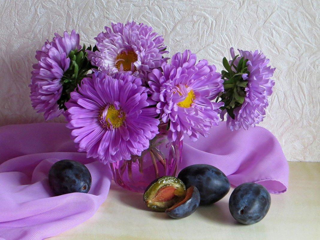 Этюд с астрами - Татьяна Смоляниченко
