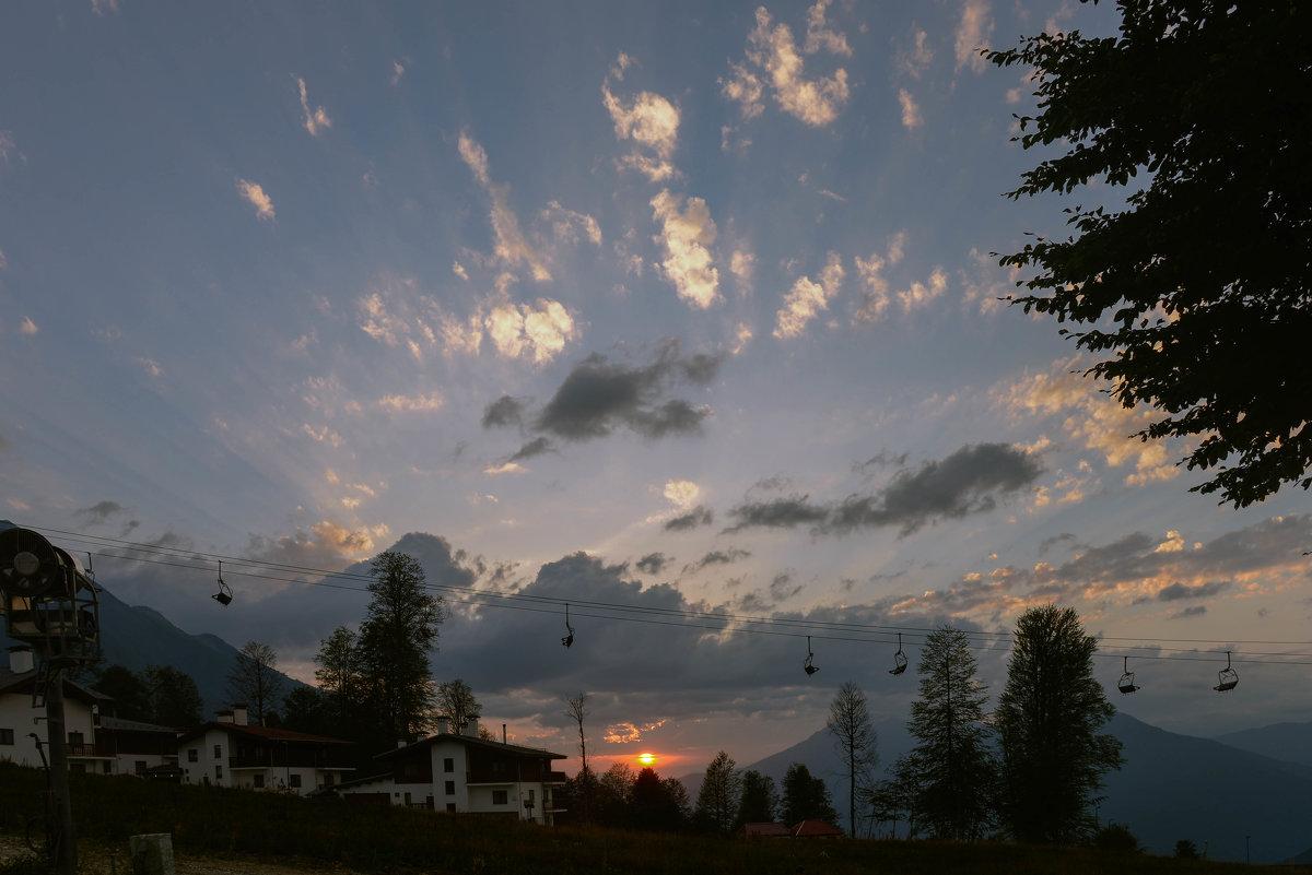 Закат в горах - cfysx