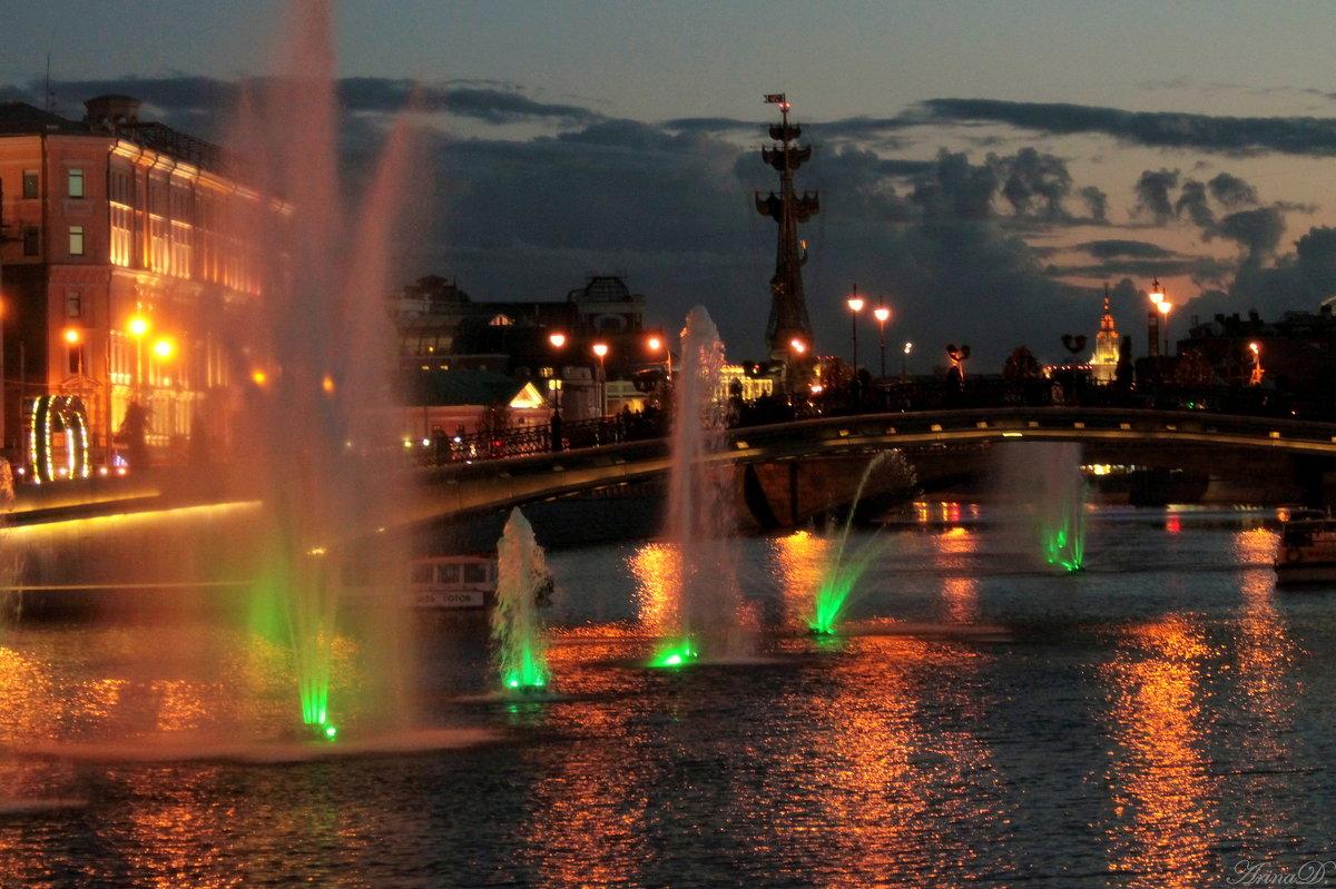 .. Городской пейзаж (вариант с фонтанами №2) .. - Арина Дмитриева