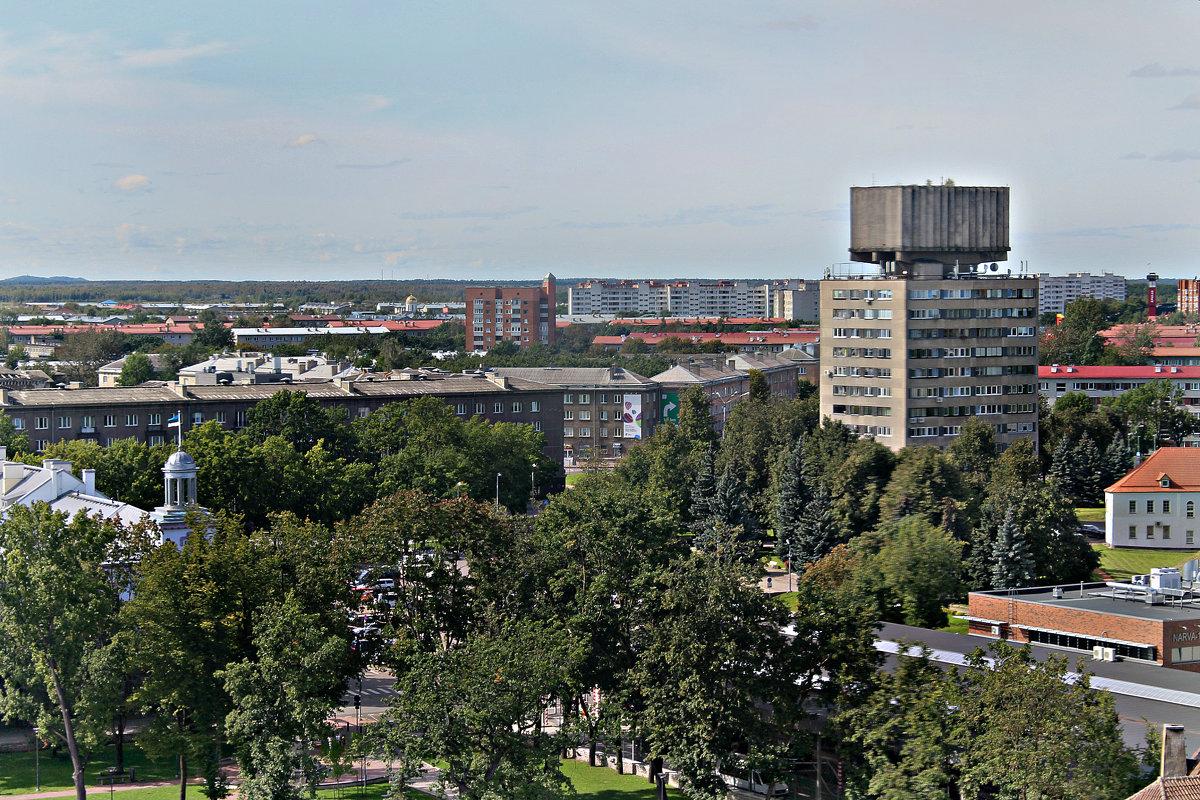 Город Нарва с башни Германа. - Marina Pavlova