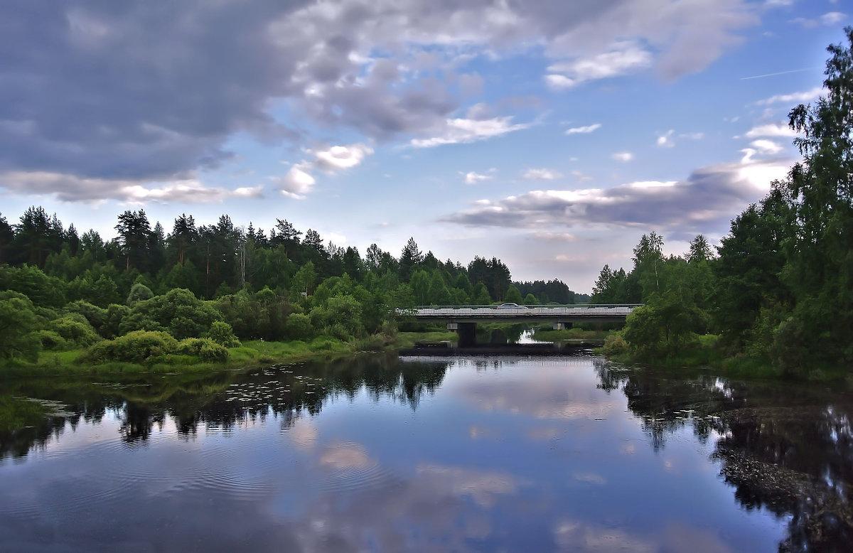 Трасса Владимир-Муром.Мост через реку Судогду. - Алла Кочергина