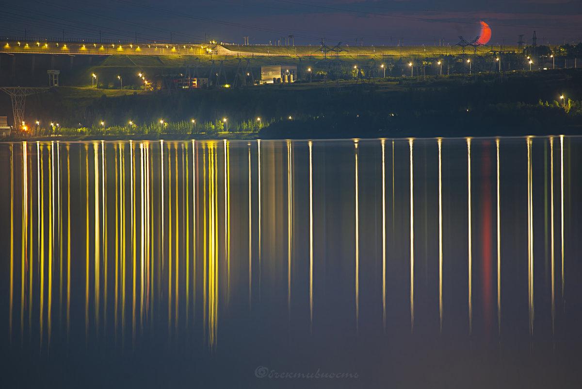 Братская ГЭС ночью - Фотостудия Объективность