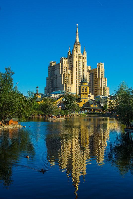 Москва, вид на высотку на Баррикадной из зоопарка - Игорь Герман