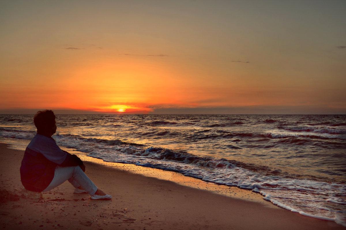 Закат на Азовском море.. - Клара