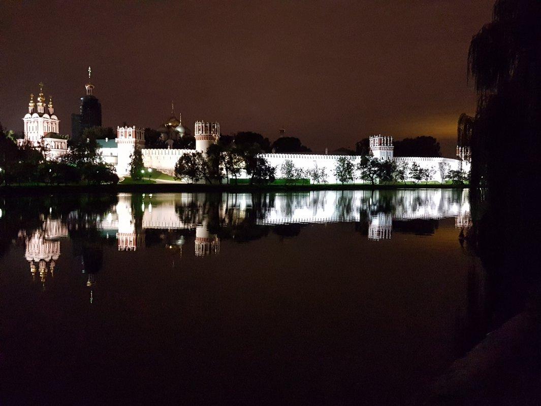 Ночная Москва (Новодевичий монастырь) - Ольга Русанова (olg-rusanowa2010)
